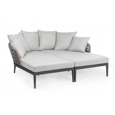 Outdoor-Sofa mit Kissen Pelikan   Schwarze & graue Kissen