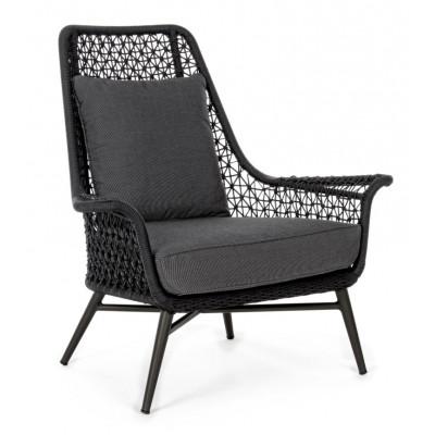 Outdoor-Sessel mit Kissen Cristobal   Schwarz