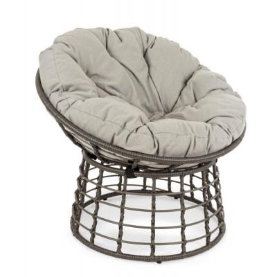 Outdoor-Sessel mit Kissen Molly   Grau