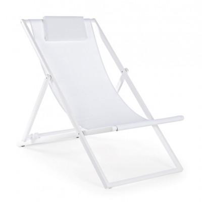 Liegestuhl Taylor | Weiß