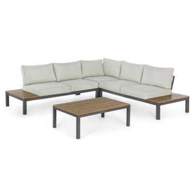 Lounge-Set Elias   Hellgrauer & schwarzer Rahmen