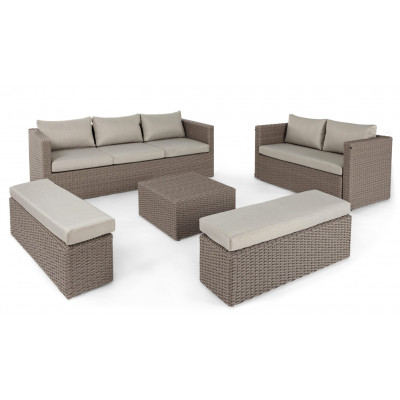 Lounge-Set Platea   Beige