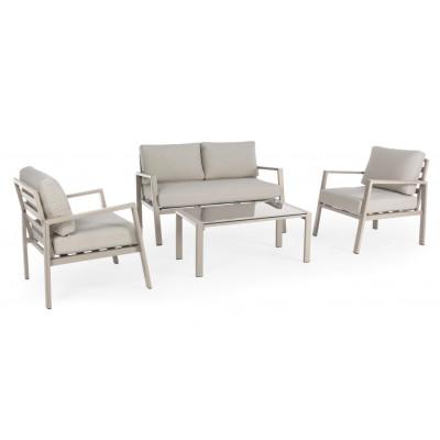Lounge-Set Koral   Taupe