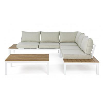 Lounge-Set Elias   Hellgrauer & weißer Rahmen