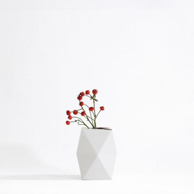 Gemütlich. Papiervase Abdeckung Niedrig | Weiß