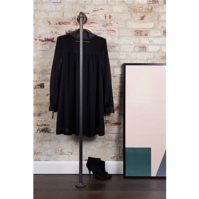 Wall-Mounted Clothes Rack Holly 150x145 cm I Black