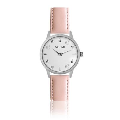 Uhr Frau Noemi I Silber-Rosa