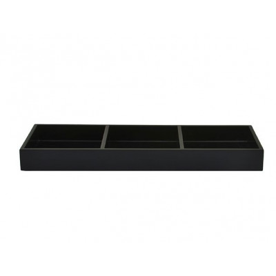 Lacquer Tray 3-Rooms | Black