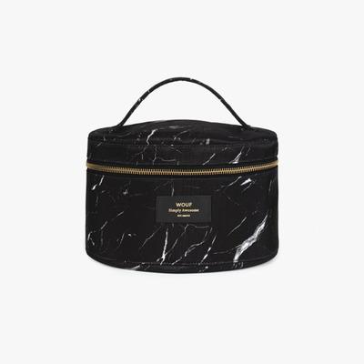 Make Up Bag XL | Black Marble