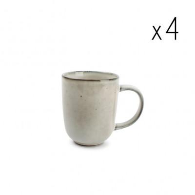 4er-Set Tassen Freckles 36 cl | Grün