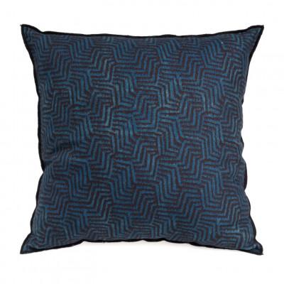 Kissen Velvet 50 x 50 cm | Blau & Braun
