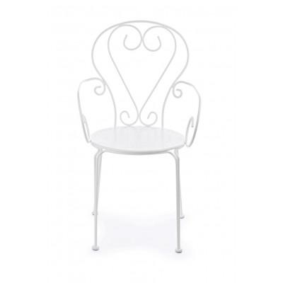 Outdoor-Stuhl Etienne   Weiß