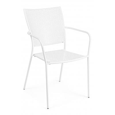 Stuhl mit Armlehnen Wendy | Weiß