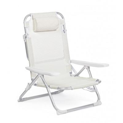 Outdoor-Liegestuhl Cross Siesta | Weiß