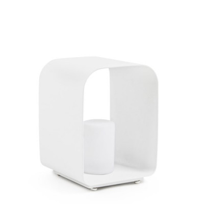 Außen-LED-Lampe Ridley Charc YK13 H35 cm | Weiß