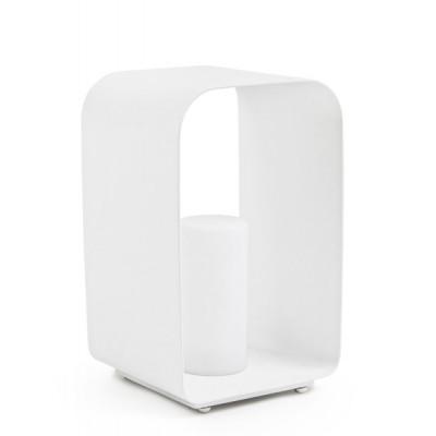 Außen-LED-Lampe Ridley Charc YK13 H45 cm | Weiß