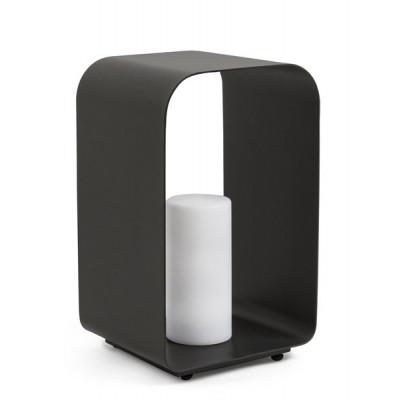 Außen-LED-Lampe Ridley Charc YK13 H45 cm | Schwarz