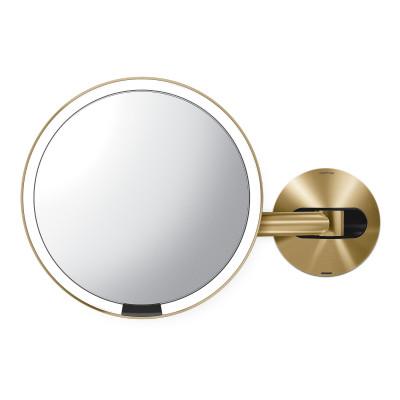 Sensorspiegel zur Wandmontage USB | Gold