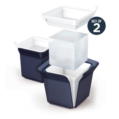 Ice Mold 'Cube' | Set of 2 | Black