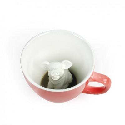 Tasse Creature Cups Schwein | Pfirsich