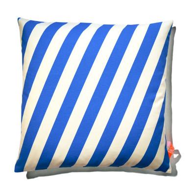 Kissen 60x60cm Blau & Weiß - gestreift