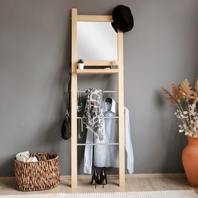 Standspiegel mit Garderobe A902 | Eiche