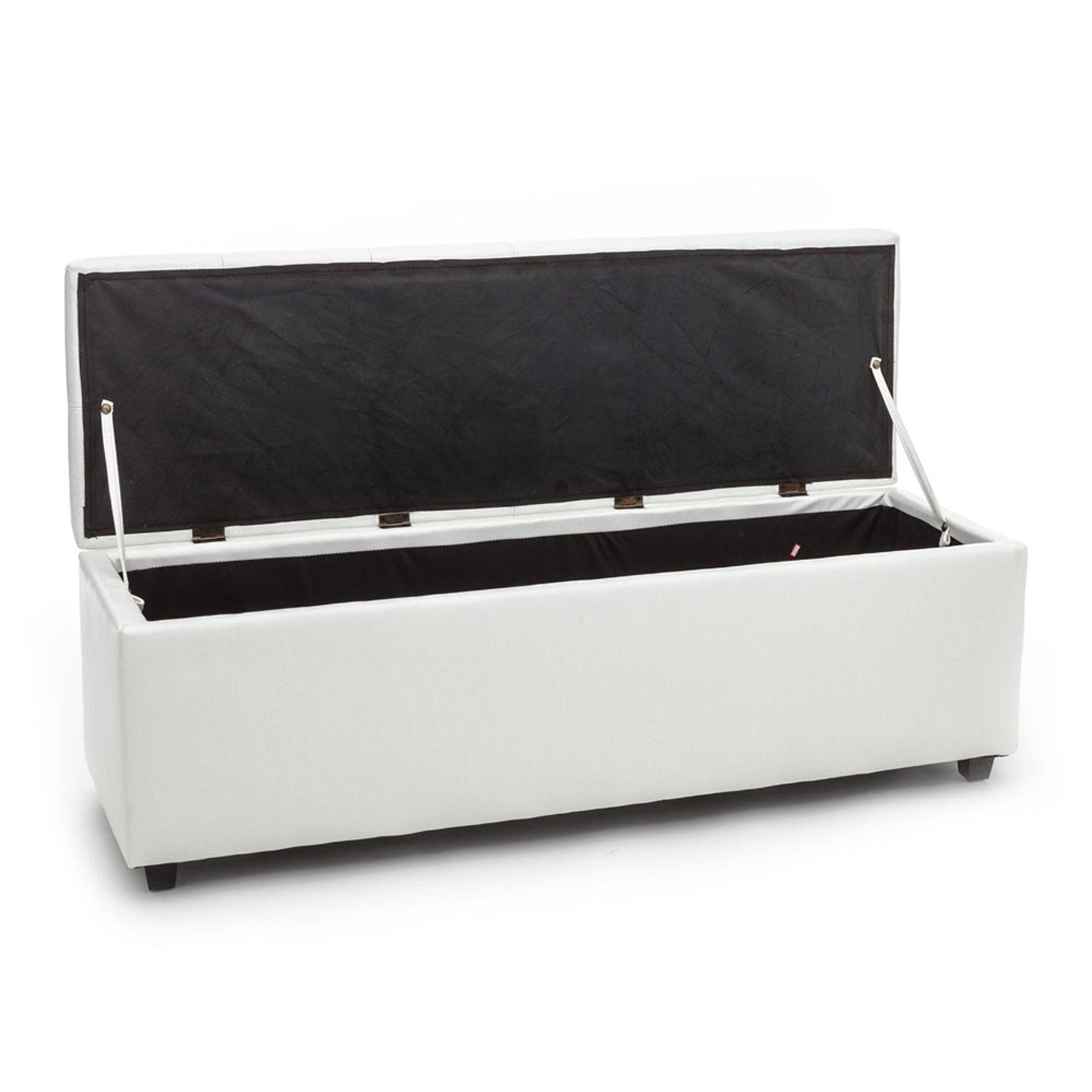 Storage Bench Chest Nice   White