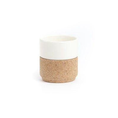 Ein Set von 2 Expresso-Tassen weiß