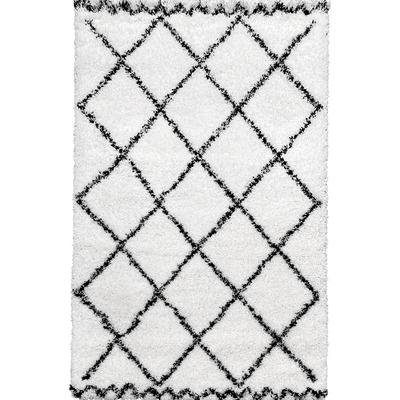 Carpet Payidar Shaggy 3891A I White-Black 160x230 cm