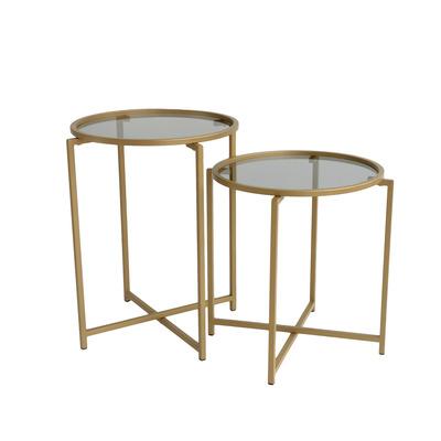 2-tlg. Couchtisch-Set S406   Gold