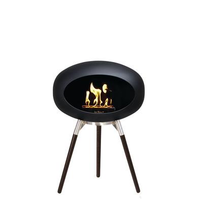 Bio Fireplace Ground Wood Black 45 cm | Black Oak