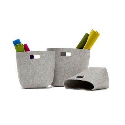 Paper Basket Light Grey