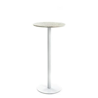 Runder Tisch Terrazzo Hoch | Weiß