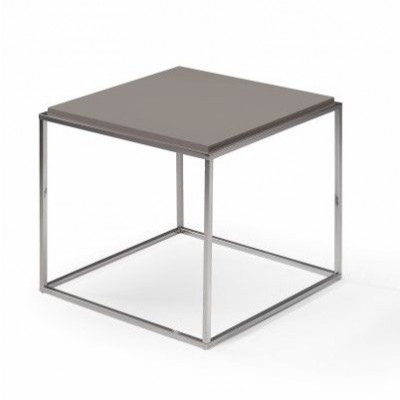 Lamina Side Table | Stainless Steel & Dove Grey