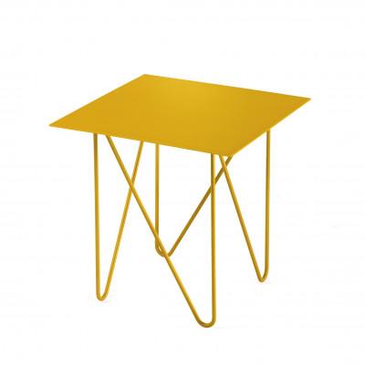 Shape Side Table | Sandblasted Gold