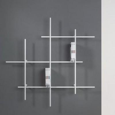 Libra Wall Bookcase 1 | Sandblasted White