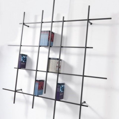 Libra Wall Bookcase 2 | Sandblasted Ardesia
