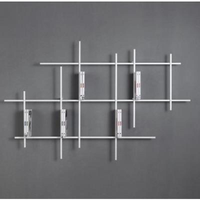 Libra Wall Bookcase 5 | Sandblasted White
