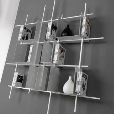 Libra Bookcase COMP2 | Sandblasted White