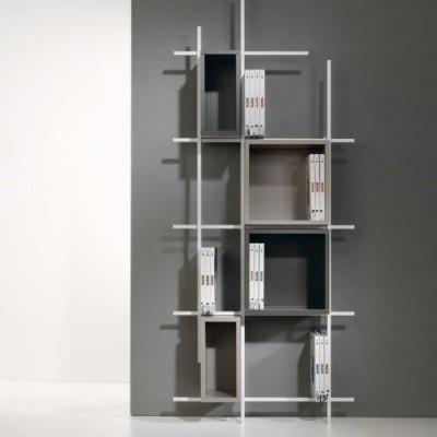 Libra Bookcase COMP33 | Sandblasted White, Sandblasted Dove Grey & Sandblasted Ardesia