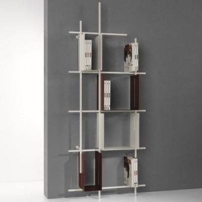Libra Bookcase COMP3 | Sandblasted White & Sandblasted Marsala
