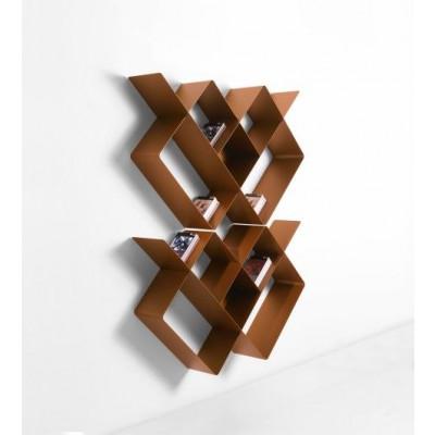 Mondrian Bookcase COMP1 | Sandblasted Copper (22) & Sandblasted Copper (25)