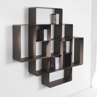 Mondrian Bookcase COMP2 | Sandblasted Chocolate (22) & Sandblasted Chocolate (25)