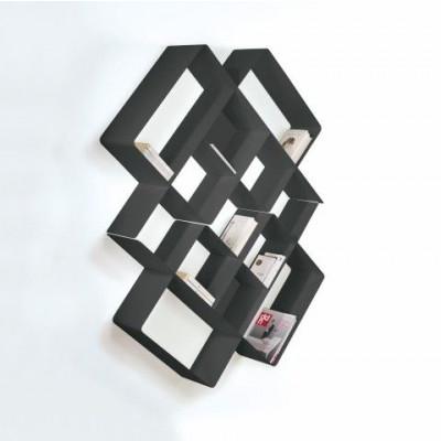 Mondrian Bookcase COMP3 | Sandblasted Ardesia (22) & Sandblasted Ardesia (25)
