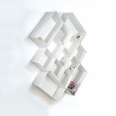 Mondrian Bookcase COMP3 | Sandblasted White (22) & Sandblasted White (25)