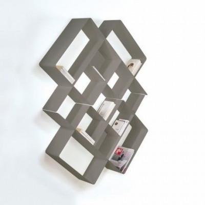 Mondrian Bookcase COMP3 | Sandblasted Dove Grey (22) & Sandblasted Dove Grey (25)