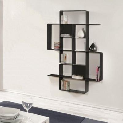 Mondrian Bookcase COMP4 | Sandblasted Ardesia (22) & Sandblasted Ardesia (25)