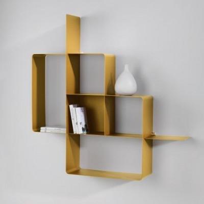 Mondrian Bookcase | Sandblasted Gold (22) & Sandblasted Gold (25)