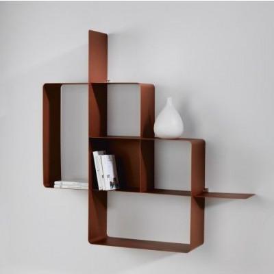 Mondrian Bookcase | Sandblasted Copper (22) & Sandblasted Copper (25)