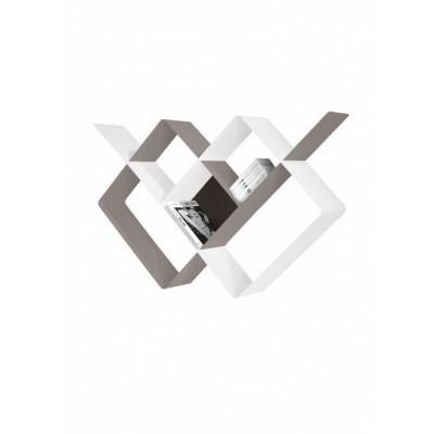 Mondrian Bookcase | Sandblasted Dove Grey (22) & Sandblasted White (25)